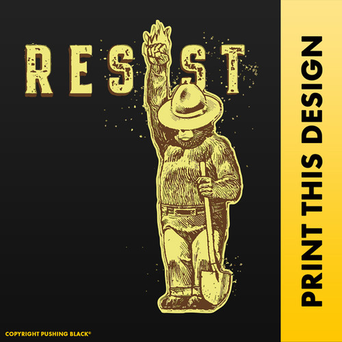 Smokey the Bear - RESIST