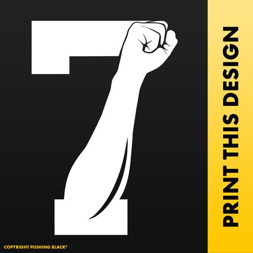 Colin Kaepernick 7 Fist Up