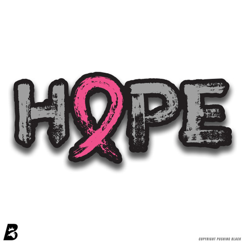 'Breast Cancer Awareness Hope' Premium Multi-Purpose Decal (Black)