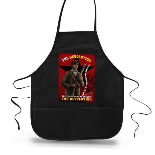 'Huey P. Newton - The Young Inherit The Revolution' Apron (Big Accessories APR51)