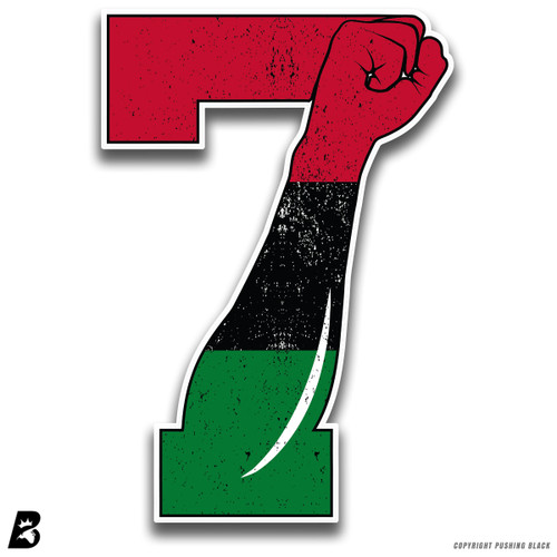 '7 Fist Up - Marcus Garvey Fist' Premium Multi-Purpose Decal
