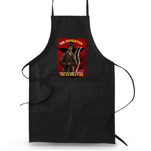 'Huey P. Newton - The Young Inherit The Revolution' Apron (Big Accessories APR53)
