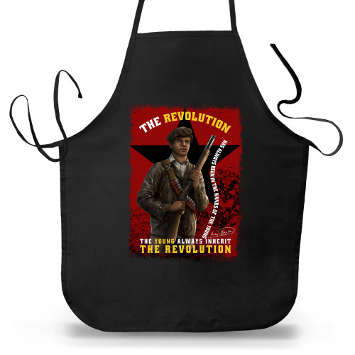 'Huey P. Newton - The Young Inherit The Revolution' Apron (Big Accessories APR54)