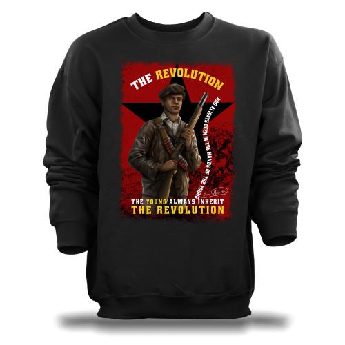 'Huey P. Newton - The Young Inherit The Revolution' Unisex Sweatshirt (Gildan G180)