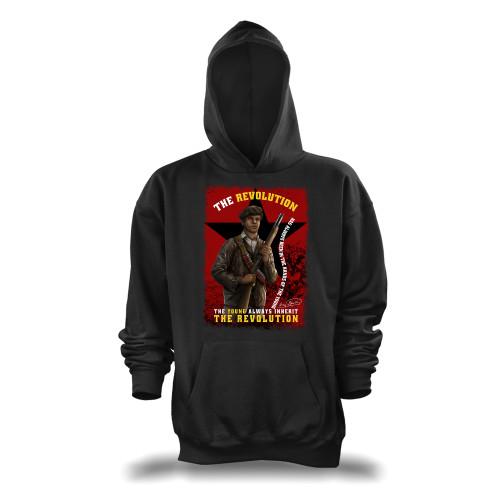 'Huey P. Newton - The Young Inherit The Revolution' Unisex Pullover Hoodie (Gildan G185)