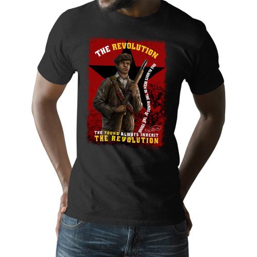 'Huey P. Newton - The Young Inherit The Revolution' Unisex T-Shirt (Gildan G500)