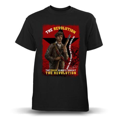'Huey P. Newton - The Young Inherit The Revolution' Youth T-Shirt (Gildan G500B)
