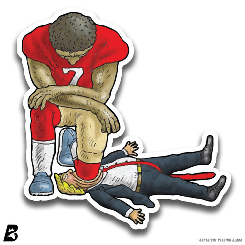'Colin Kaepernick Kneeling on Trump's Face' Premium Multi-Purpose Decal