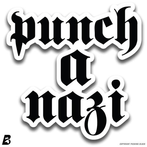 'Punch A Nazi' Premium Multi-Purpose Decal