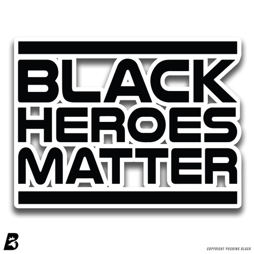'Black Heroes' Premium Multi-Purpose Decal (Black)