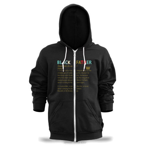 The Definition of a Black Father Unisex Zipper Hoodie