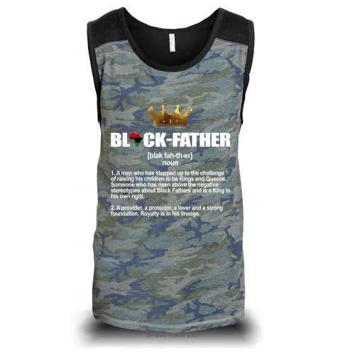 Black Father - Definition Unisex Raglan Tank Top