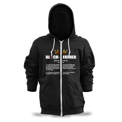 Black Father - Definition Unisex Zipper Hoodie