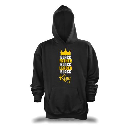 Black Father, Black Leader, Black King Unisex Pullover Hoodie