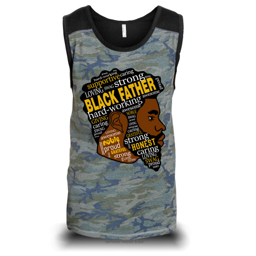 Black Fatherhood Unisex Raglan Tank Top