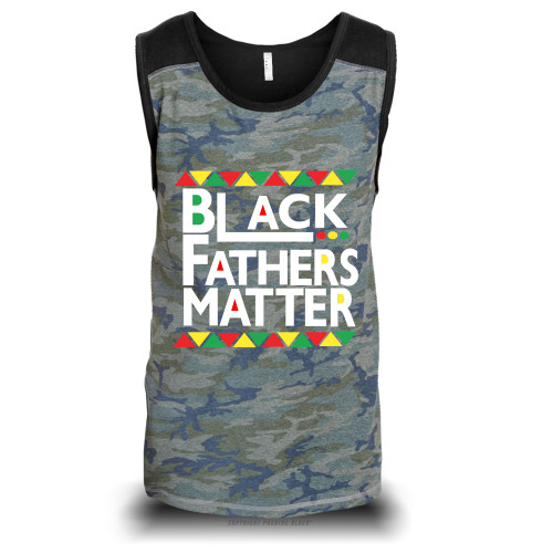 Black Fathers Matter Unisex Raglan Tank Top