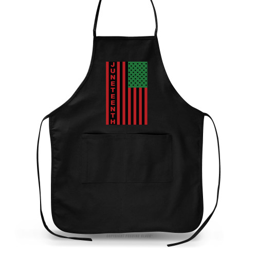 Juneteenh Pan-African US Flag Apron