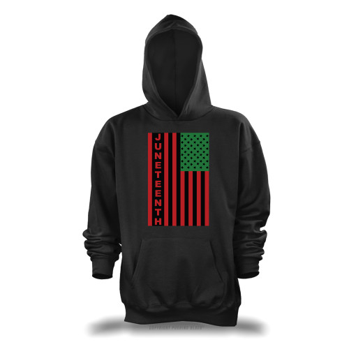 Juneteenh Pan-African US Flag Unisex Pullover Hoodie