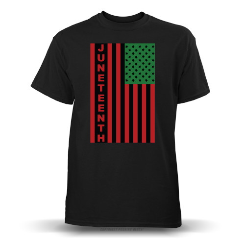 Juneteenh Pan-African US Flag Youth T-Shirt