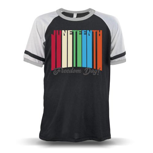 Juneteenth Freedom Day Unisex Raglan T-Shirt