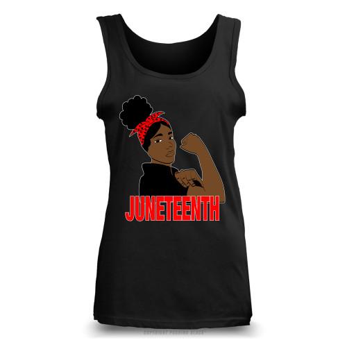 Juneteenth Freedom Fighter Ladies Tank Top