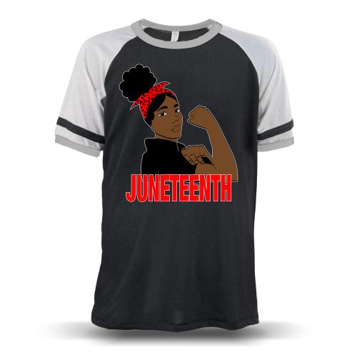 Juneteenth Freedom Fighter Unisex Raglan T-Shirt
