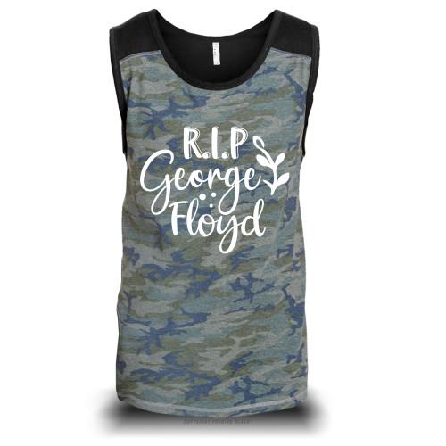 RIP George Floyd Unisex Raglan Tank Top