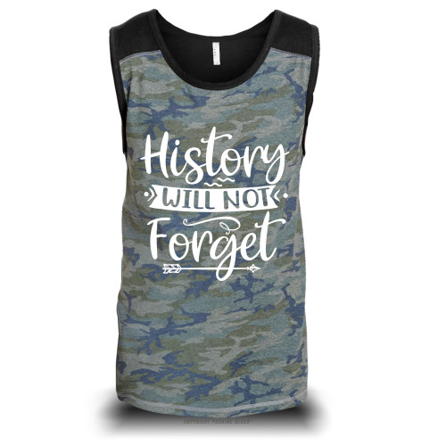 History Will Not Forget Unisex Raglan Tank Top