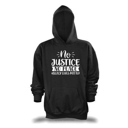 No Justice No Peace #BLACKLIVESMATTER Unisex Pullover Hoodie