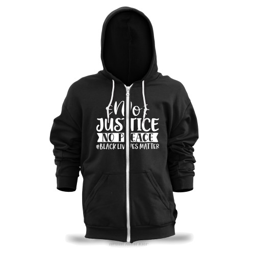 No Justice No Peace #BLACKLIVESMATTER Unisex Zipper Hoodie