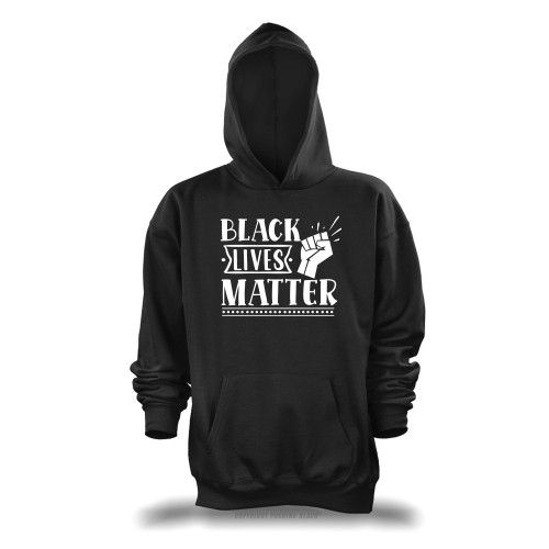 Black Lives Matter Fist Up Unisex Pullover Hoodie