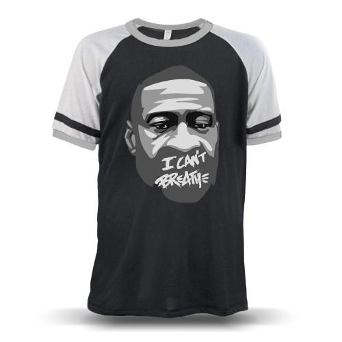 George Floyd - I Can't Breathe Unisex Raglan T-Shirt