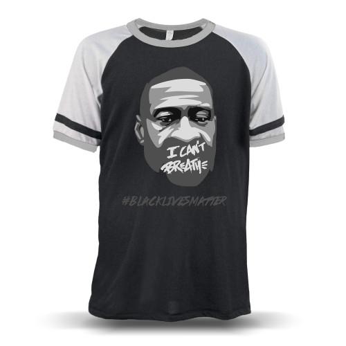 George Floyd - I Can't Breathe #BLACKLIVESMATTER Unisex Raglan T-Shirt