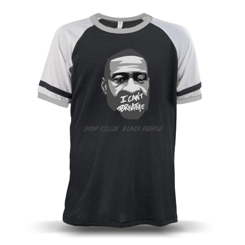 George Floyd - Stop Killin' Black People Unisex Raglan T-Shirt
