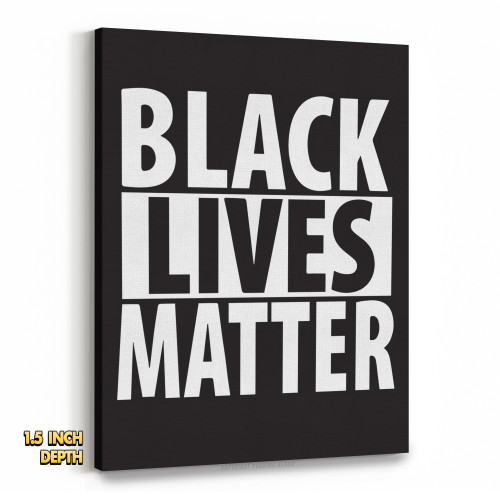 Black Lives Matter Premium Wall Canvas