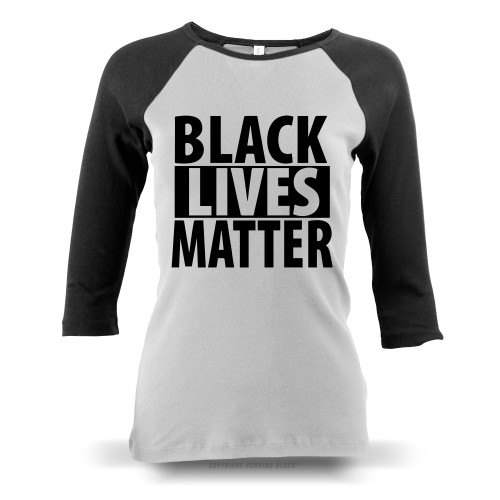 Black Lives Matter Ladies Raglan Long Sleeve
