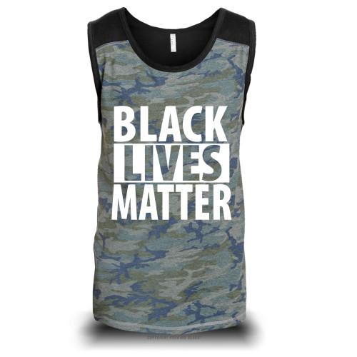 Black Lives Matter Unisex Raglan Tank Top