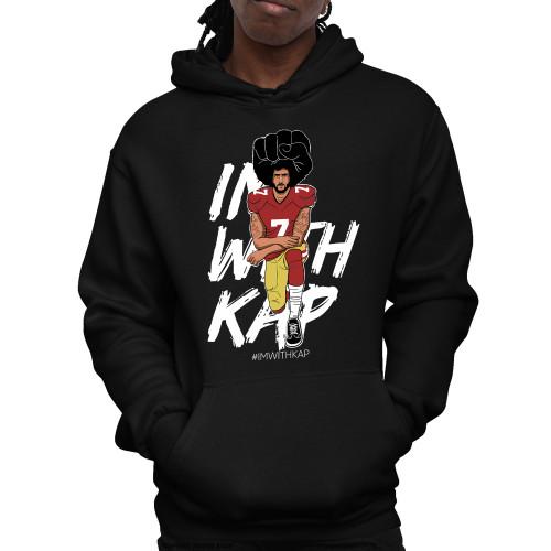 Colin Kaepernick Kneeling - #IMWITHKAP Unisex Pullover Hoodie