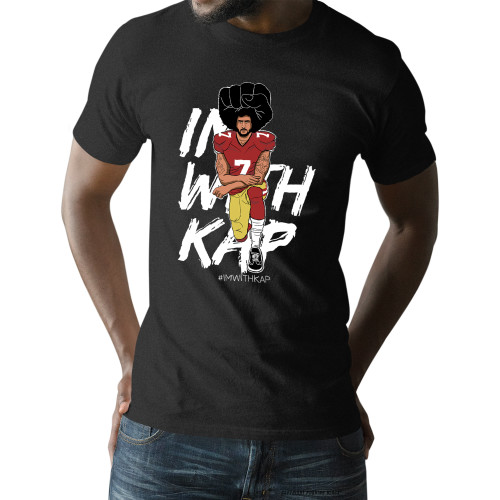 Colin Kaepernick Kneeling - #IMWITHKAP Unisex T-Shirt