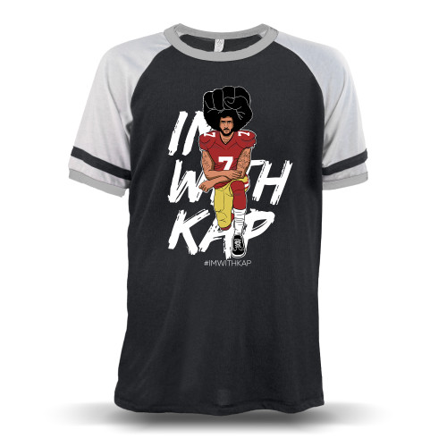 Colin Kaepernick Kneeling - #IMWITHKAP Unisex Raglan T-Shirt