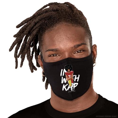 Colin Kaepernick Kneeling - #IMWITHKAP Washable Face Mask