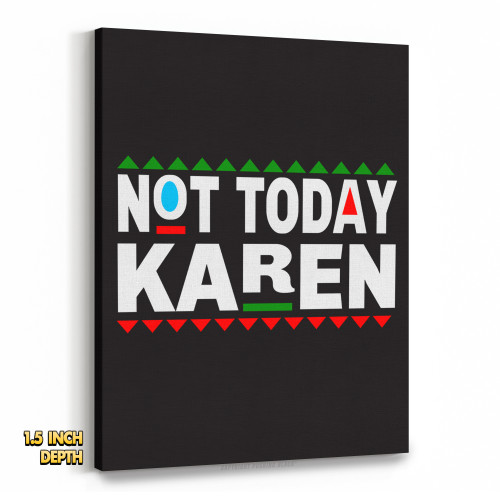 Don't Be A Karen 90s Style Premium Wall Canvas