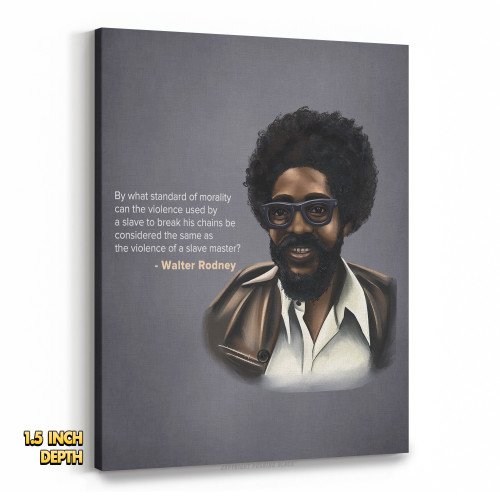By What Standard - Walter Rodney Premium Wall Canvas