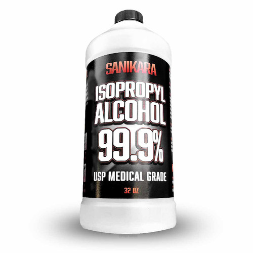 99.9% Isopropyl Alcohol 32oz - Sanikara Brand