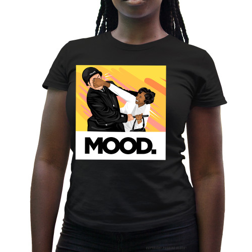 Mood. - Black Woman Punches Cop in Face Ladies T-Shirt