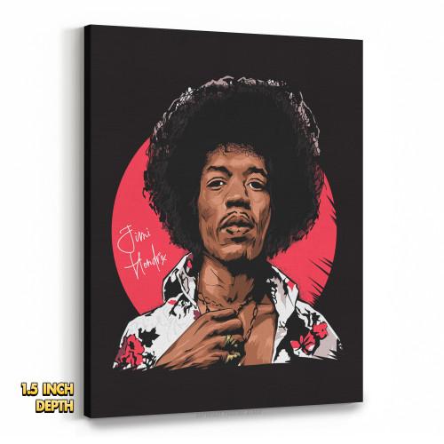 Jimi Hendrix Legacy Premium Wall Canvas
