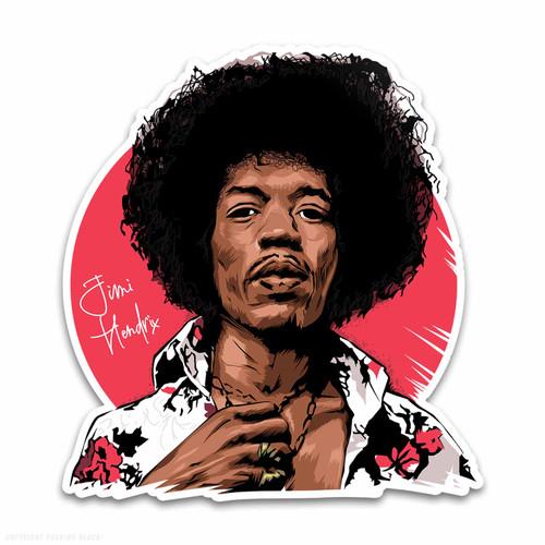 Jimi Hendrix Legacy Weatherproof Vinyl Decal