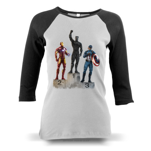 Black Panther The Greatest Ladies Raglan Long Sleeve