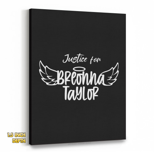 Justice for Breonna Taylor Premium Wall Canvas