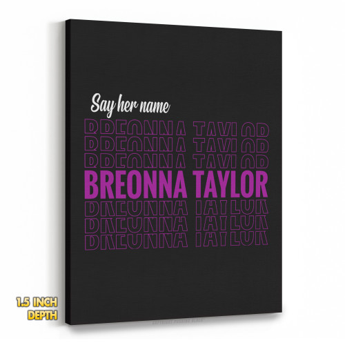 Say Her Name Breonna Taylor Premium Wall Canvas